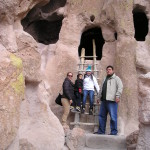 Family explores Bandelier National Park