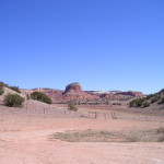 Butte at the entrance to Ghost Ranch